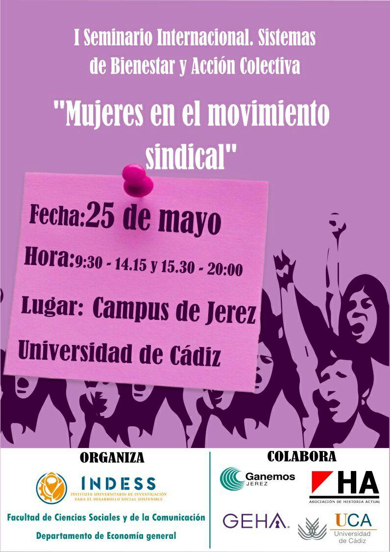 """El Campus de Jerez acoge el seminario internacional """"Mujeres en el movimiento sindical"""""""