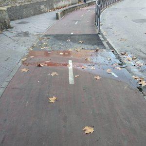 Ganemos Jerez alerta de las condiciones de insalubridad en el puente de la estación de trenes